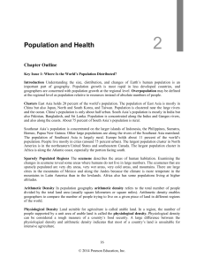 Chapter 2: Population and Health 2 Population and Health Chapter