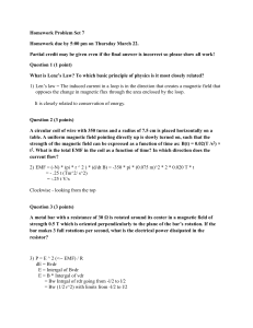 Homework Problem Set 7 Homework due by 5:00 pm on Thursday