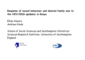Response of sexual behaviour and desired family size to the HIV