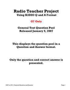 2007 General Pool Q and A - G7 Only