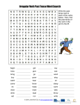 Irregular Verb Past Tense Word Search Write the past tense next to