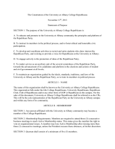 The Constitution of the University at Albany College Republicans