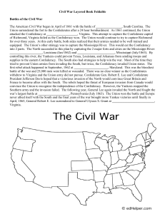 Civil War Layered Book Foldable
