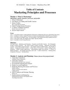 Development Relationship - Marketing Principles and Processes