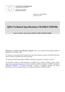 QIS4 Technical Specifications