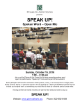 Speak Up OCTOBER POSTER 2016