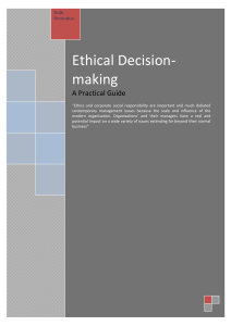 7. Steps in the ethical decision making process