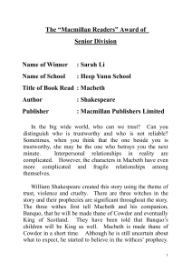"The ""Macmillan Readers"" Award of"