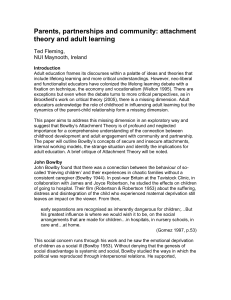 attachment theory and adult learning