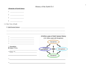 History of the Earth Ch 1