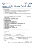 Activity 4.1.1 The Science of Flight: The Spirit of Innovation