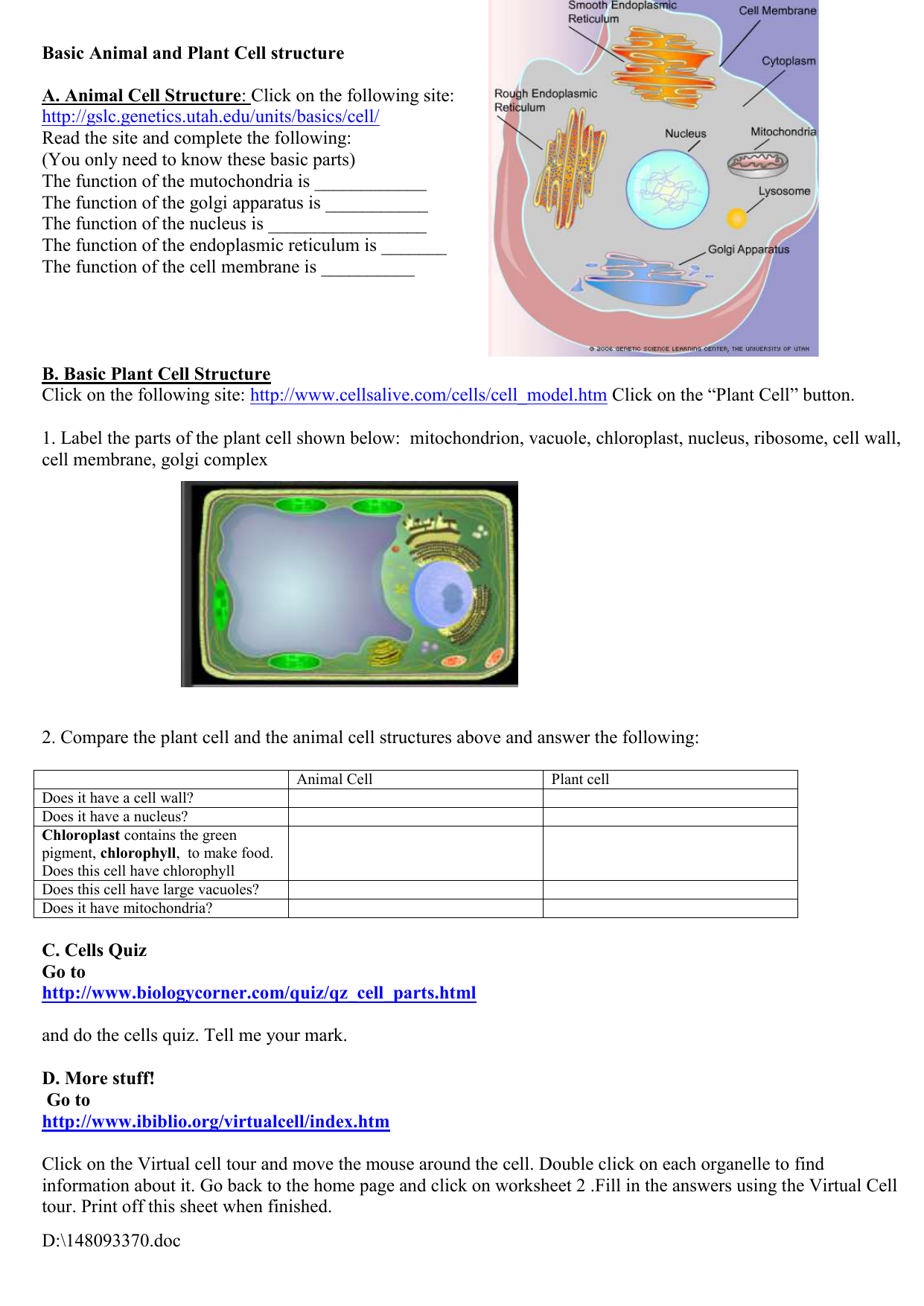 worksheet Cells Alive Worksheet Answers plant cell anatomy functions gallery human learning 0097650901 54aff5ae4b8dcf247f0ba33e551fbc4ag muvagfo gallery