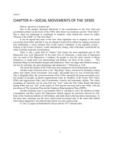 ocial Movements of the 1930s - Bill Barry, Labor Studies 101