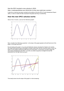 How the IPCC invented a new calculus in 2010. http
