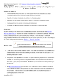 Balancing Chemical Equations Teacher notes and Lesson plan
