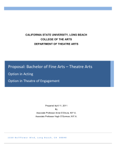 Proposal: Bachelor of Fine Arts in Acting