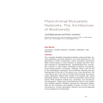 Plant-Animal Mutualistic Networks: The Architecture of