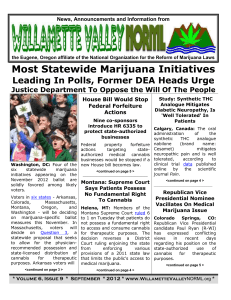 Newsletter - Willamette Valley NORML