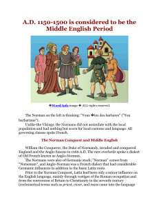 Middle English summary with pictures