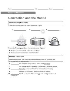 Convection and the mantle homework