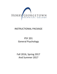 instructional package - Horry Georgetown Technical College