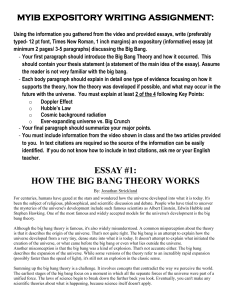 Article #1- How the Big Bang Theory Works