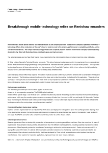 Breakthrough mobile technology relies on Renishaw encoders