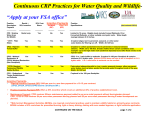 CCRP Practices for Water Quaility and Wildlife