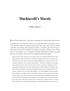 Machiavelli`s Morals - Azure - Ideas for the Jewish Nation