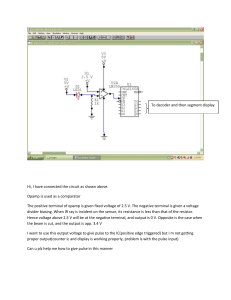 Hi, I have connected the circuit as shown above. Opamp is used as