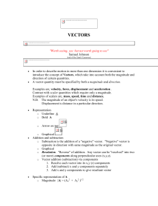 Vectors - University of Louisville Physics