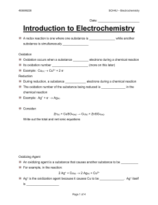 1 - Intro to Electrochemistry