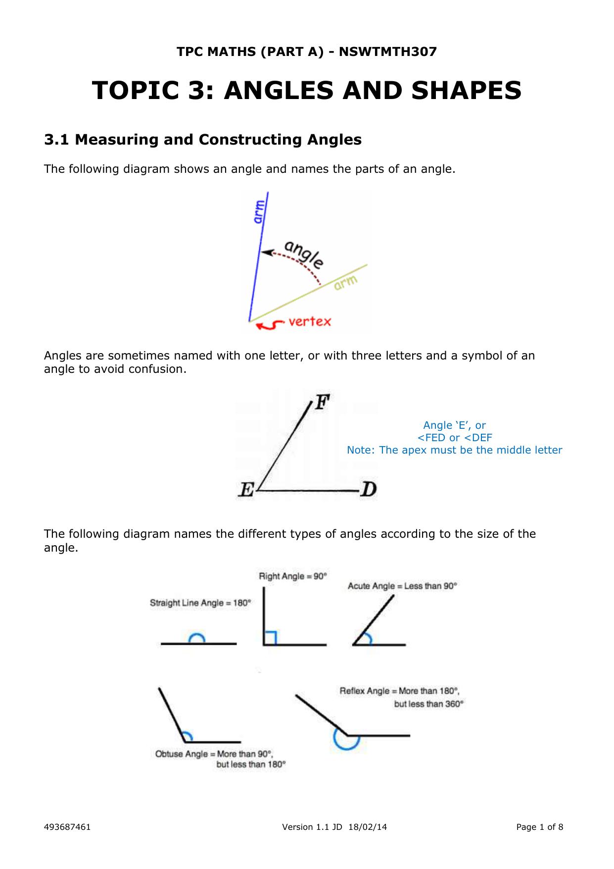 Tpc Maths Part A Nswtmth307a