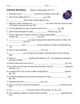 Cell Parts Worksheet