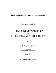 "Homosexual ""Marriage"""