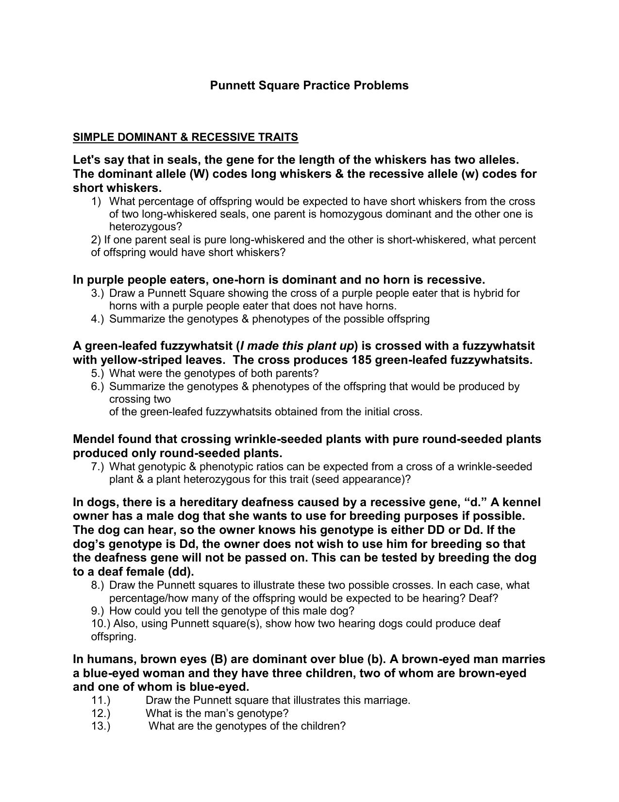 Worksheets Punnett Square Practice Worksheet Answers 009908183 1 0be3c999a9601d5d3ebc826403d6c54e png