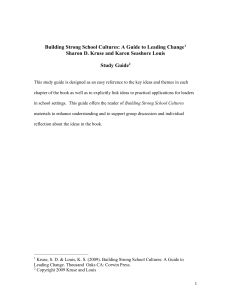 Building Strong School Cultures: A Guide to Leading Change[1