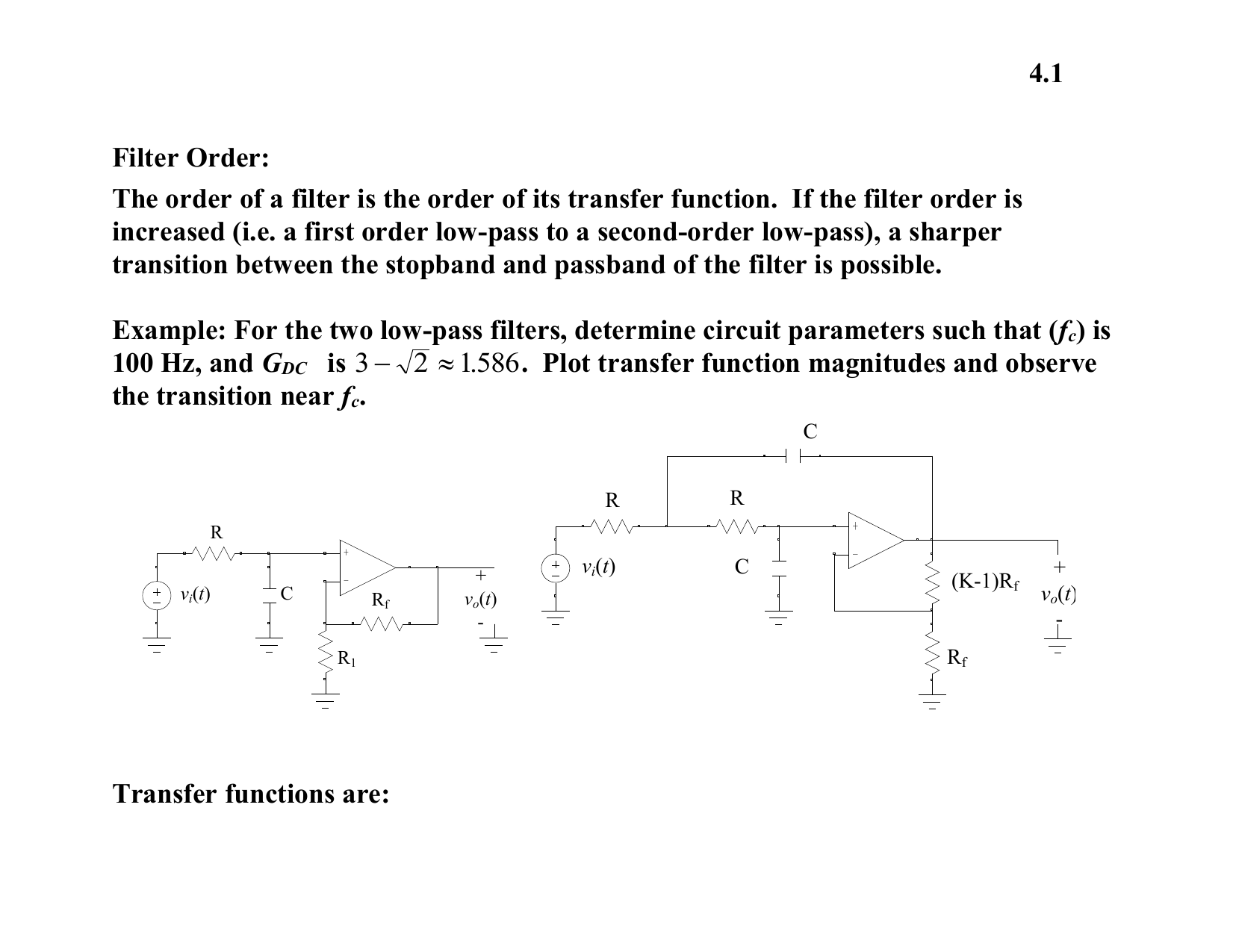 Ee221 4 First Order Rc Filter Lowpass Circuit