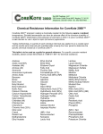 Chemical Resistance Information for CoreKote 2000