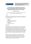 critical approaches in qualitative educational research