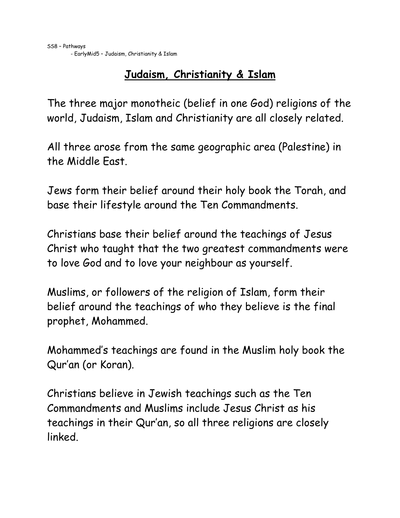 do jews believe in the ten commandments