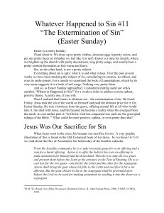 The Extermination of Sin