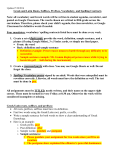 Vocabulary Spelling and Vocabulary Contracts
