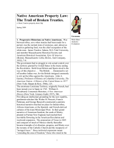 Native American Property Law: The Trail of Broken Treaties