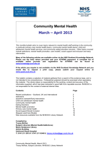 Mental Health Bulletin, July 2008