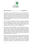 WHF Maputo Statement 8th September 2013 We, members of faith