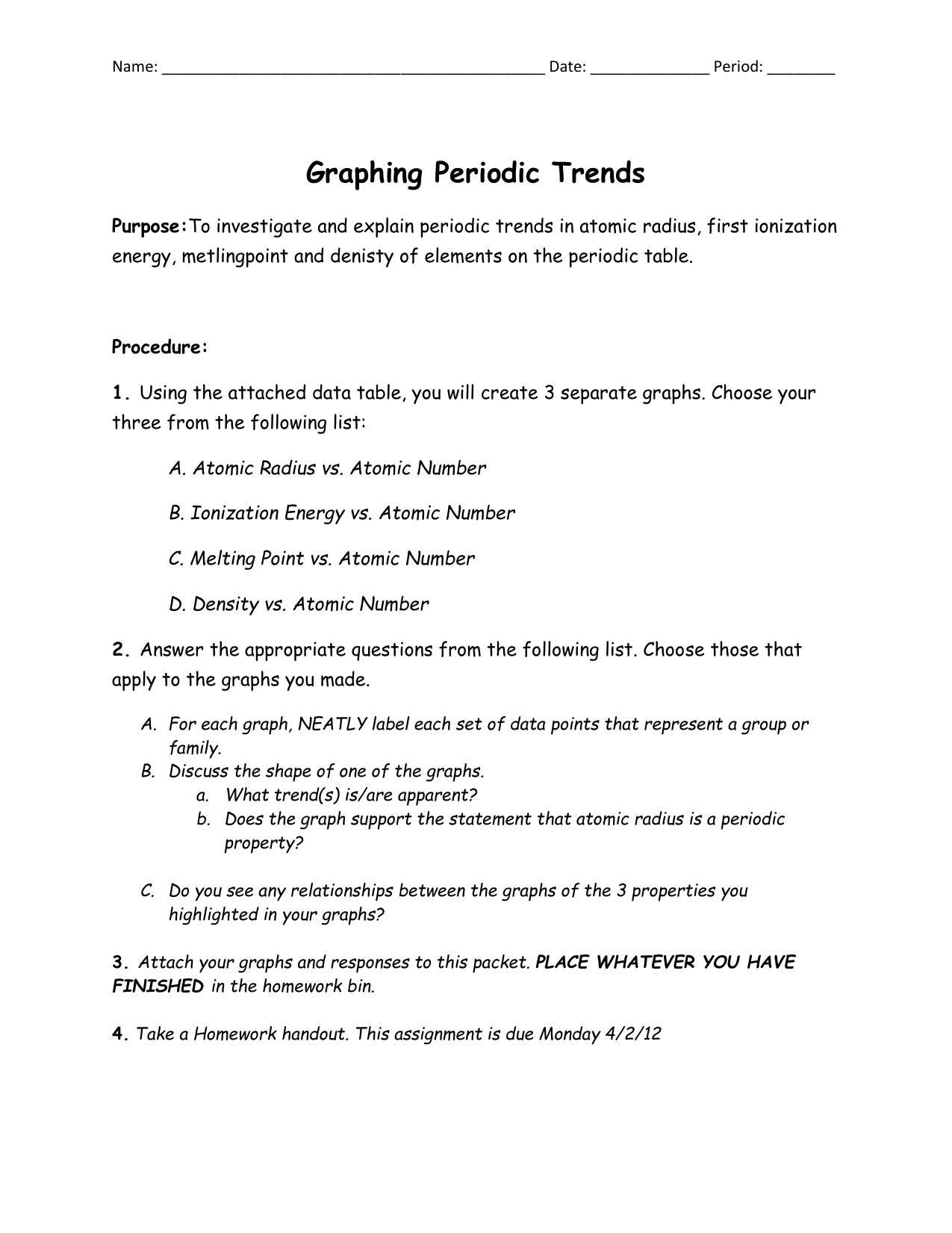 Name date period graphing periodic trends purposeto urtaz Gallery