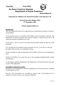 Statement from Department of Social Protection