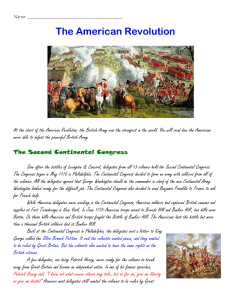 The American Revolution - Mrs. Anci`s Classroom