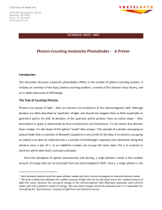 V807 -Photon-Counting Avalanche Photodiodes – A Primer